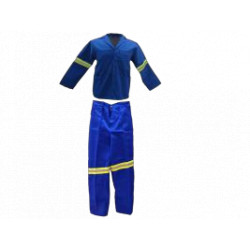 Polycotton Overall Reflective - 2 Piece Conti Suit PPE