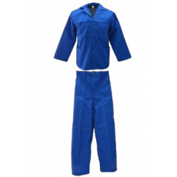 100% Cotton Overall Royal Blue - 2 Piece Conti-Suit PPE