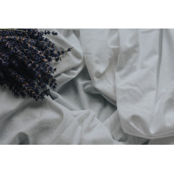 Double bed Fitted Sheet Polyester White - Hotel Bedding Supplies