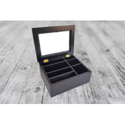 Tea Box - With Glass Lid (7...