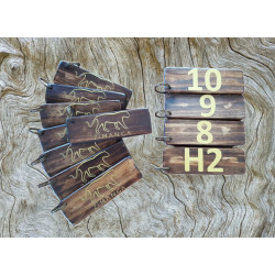 Key Rings (Small/Large) - Pine