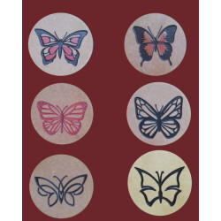 Butterfly Engraved Coaster Set