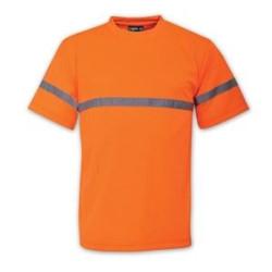 T-Shirt - Plain - Branded - High Visibility - Orange
