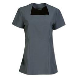 Lily Beauty Therapist Tops - Grey - Spa Uniform