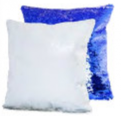Sequin Cushion Blue - Printable