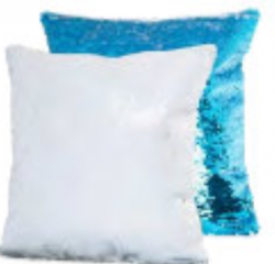 Sequin Cushion Turquoise- Printable