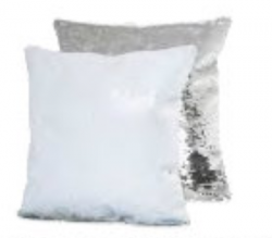 Sequin Cushion Silver -...