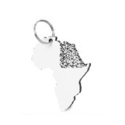 Africa Keyring Holder - Printable
