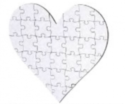 Personalized Heart Wooden Puzzle 35PC
