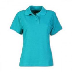 Ladies Pique Knit Polo - Plain - Brandable
