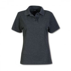 Ladies Pique Knit Polo - Melange Plain