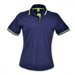 Ladies Raised Ridge Polo - Navy