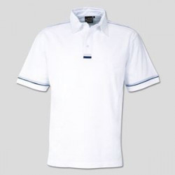 Men's Flat Piping Polo - White