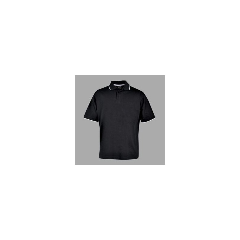 Pencil Stripe Golfer - Black