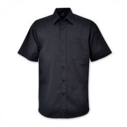 Icon Woven Shirt - Short Sleeve - Black - Workwear