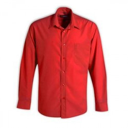 Icon Woven Shirt - Long Sleeve - Red - Workwear