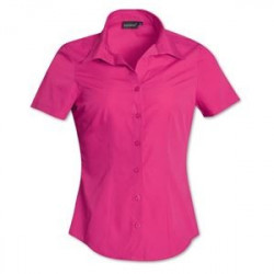 Ladies Blouse - Short Sleeve - Uniform - Plain - Brandable - Pink