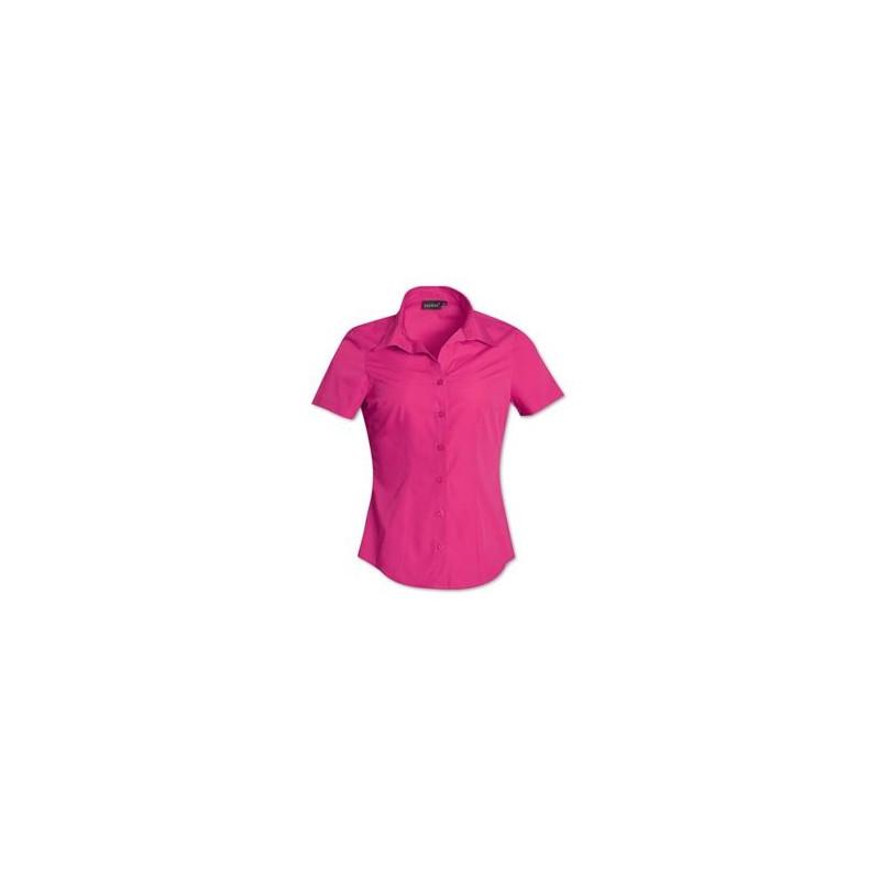 Ladies Blouse - Short Sleeve - Uniform - Plain - Brandable - Pink