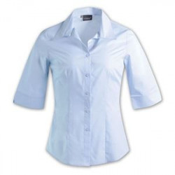 Ladies Blouse - 3/4 Sleeve - Uniform - Plain - Brandable - Sky Blue