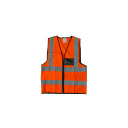 Reflective vest with zip & id pocket
