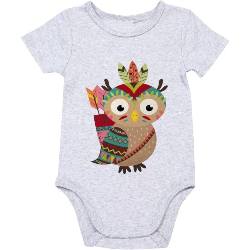 Adorable Owl Babygrow - Grey
