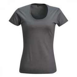 Ladies Fitted T-shirt  Grey