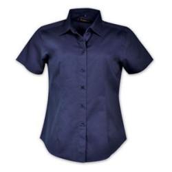 Ladies Shirt - Short Sleeve - Navy - Workwear