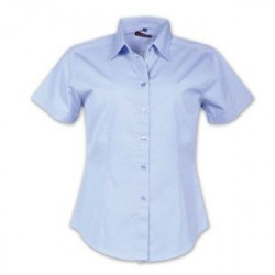 Ladies Shirt - Short Sleeve - Sky Blue - Workwear