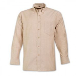Shirt - Long Sleeve - Brandable Workwear - Beige
