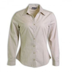 Blouse - Striped Long Sleeve Corporate clothing