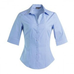 Blouse - Striped 3/4 Sleeve - Corporate Clothing