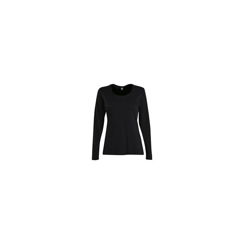 Fitted T-Shirt - Long Sleeve Black