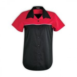 Ladies Traction Pit Crew Shirt - Red Ladies workwear