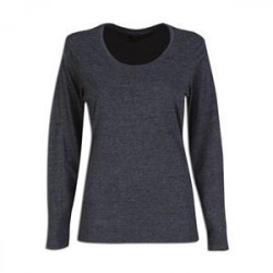 Ladies Fitted T-Shirt - Long Sleeve - Melange Grey