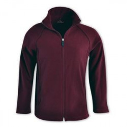 Ladies Microfiber Polar Fleece maroon