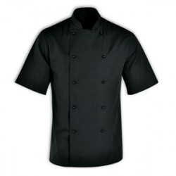 Chef Jacket - Short Sleeve Black - Chef Uniform